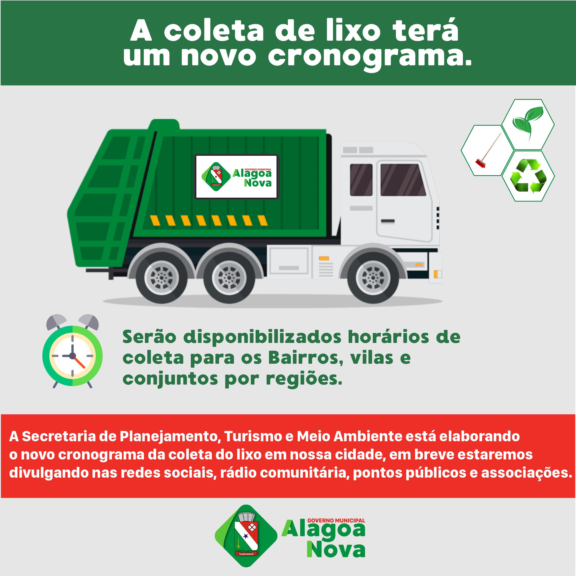 Secretaria de Planejamento está elaborando um novo cronograma da coleta do lixo