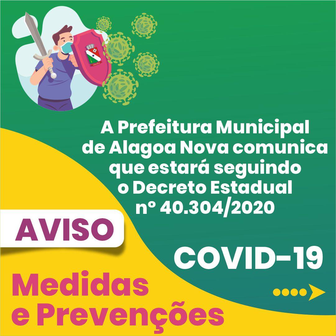 Prefeitura Municipal seguirá o Decreto Estadual